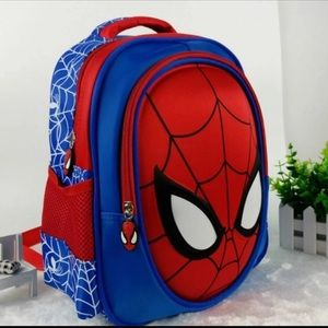 Cool Boys 3D Spider-Man Cartoon Character Backpack